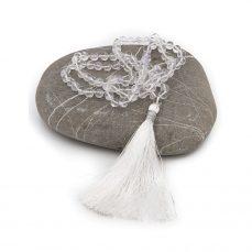 108 bead mala himalayan crystal white