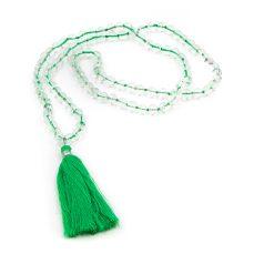 108 bead mala himalayan crystal green