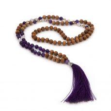 108 bead mala amethyst crystal cleansing