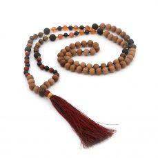 108 bead mala carnelian lava tiger root chakra