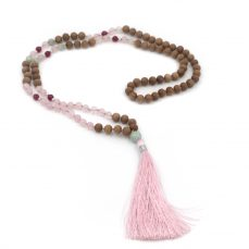 Rose quartz 108 bead mala