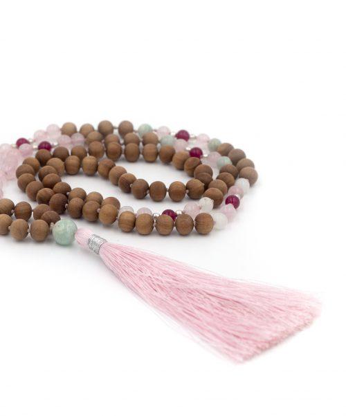 Rose Quartz Heart Chakra 108 Bead Mala