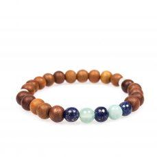 Stardust lapislazuli amazonite moonstone mala bracelet spiritual blue front